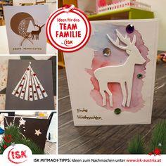 Egal, ob als Zeitvertreib beim Warten aufs Christkind oder einfach, weil man noch Last-Minute-Weihnachtskarten braucht: Diese selbstgebastelten Karten sind auf jeden Fall Unikate und werden die Beschenkten erfreuen! Danke für diesen Mitmachtipp an die Kids aus der Nachmittagsbetreuung der VS Molln! #BastelnfürWeihnachten #Weihnachtskarten #kreativeWeihnachtskarten #BastelmitKindern #isknabe #nachmittagsbetreuung #DasBesteamNachmittag Die Beschenkte, Last Minute, Playing Cards, Christmas Ornaments, Games, Holiday Decor, Creative Christmas Cards, Waiting, Craft Tutorials