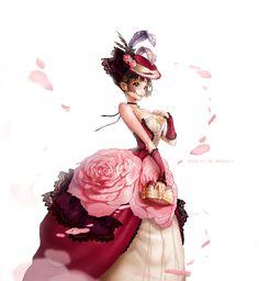 장미드레스 아가씨:) 중세 드레스
