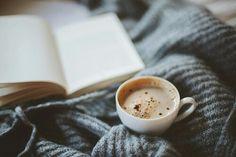 Imagine coffee, book, and cozy