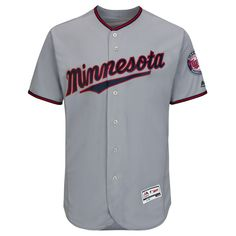 1dd5bbaeac3 Minnesota Twins Majestic Road Flex Base Authentic Collection Team Jersey -  Gray