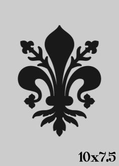 Ornate Fleur de lis Stencil Image size: 10 x inches Need a different size? Just send us a convo. Cut from durable 7 mil mylar and can Stencils, Damask Stencil, Stencil Patterns, Stencil Art, Stencil Designs, Paint Designs, Silhouette Vinyl, Silhouette Cameo Projects, Graph Design