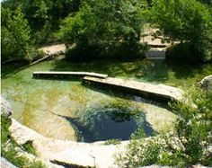 Jacob's Well, in the Texas Hill Country, is one of the longest underwater caves in Texas. Jacob's Well surges up thousands of gallons of water per minute and acts as headwaters to the beautiful Cypress Creek. Texas Roadtrip, Texas Travel, Jacobs Well Tx, Oh The Places You'll Go, Places To Travel, Visit Texas, Texas Hill Country, Natural Wonders, Vacation Spots