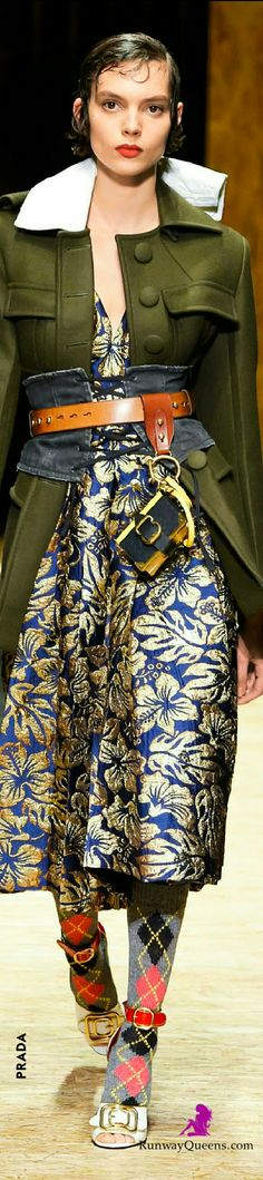 Prada , Fashion 2017, Jacket, Flower pattern