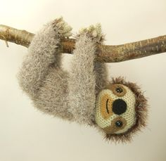 Slocombe the Sloth - Amigurumi Crochet Pattern (Available in English Language only)  Slocombe the sloth is a bit of a hippy at heart. Hes a chilled out, tree hugging, totally relaxed kind of dude and a great example to all of us who are always rushing around in todays busy world. Slocombe knows that simply hanging out with his friends is one of lifes great pleasures and hes in no hurry to join the rat race and set his stress levels soaring through the roof. Ok, so he may not have a high…