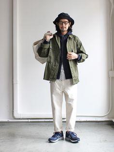 hatski_20161226img_4663 Casual Asian Fashion, Korean Fashion Men, Japanese Street Fashion, Mens Fashion, American Casual, Smart Casual Men, Asian Street Style, Engineered Garments, Outdoor Fashion