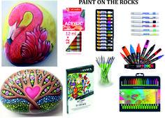 Ζωγραφική σε πέτρα με μαρκαδόρους και ακρυλικά. Καλό και δημιουργικό Σαββατοκύριακο. http://www.paperworld.gr/84-artist-paints-akrylika-ladia-