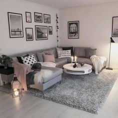 Cozy Living Rooms, Living Room Grey, Home Living Room, Apartment Living, Living Room Designs, Apartment Entryway, Apartment Furniture, Modern Apartment Decor, Apartment Design