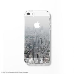 Tokyo cityscape clear printed iPhone case S049
