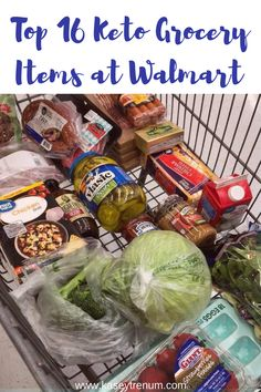 """Top 16 Keto Grocery Items at Walmart"" FacebookPinterestTwitterEmail Keto Food Items at Walmart Since I posted my Very Basic Keto Grocery List and Amazon Keto List, I thought that perhaps a list of Keto staples at Walmart might be helpful. I also run into ALDI sometimes (here is an ALDI ketocontinue reading..."