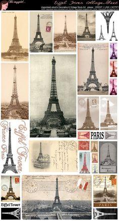 Eiffel Tower Collage Sheet by Bnspyrd.deviantart.com on @DeviantArt