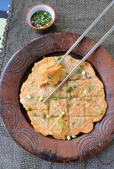 Kimchi Jeon : crêpes ou galettes coréennes au Kimchi