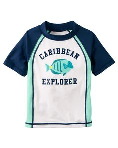 Baby Boy Carter's Caribbean Explorer Rashguard from Carters.com. Shop clothing & accessories from a trusted name in kids, toddlers, and baby clothes.