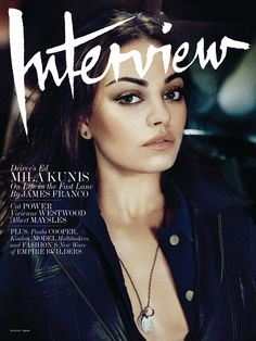 mila kunis for Interview Mag Aug 2012 (Studded Hearts)