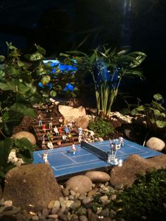 Terrarium tennis. Commissioned work for Australian open VIP lounge