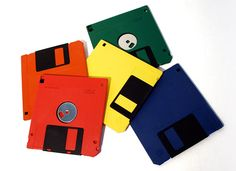 Floppy disks! I asked one of my 2nd graders if she knew what these were for.. I got a blank stare that made me feel older than dirt.