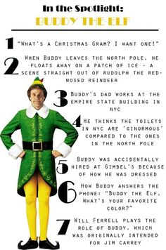 I did not know that Jim Carrey would play Buddy the Elf. Christmas Time Is Here, Christmas Elf, Winter Christmas, Office Christmas, Christmas 2019, Xmas, Christmas Movie Quotes, Christmas Characters, Buddy The Elf