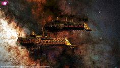 Battlefleet Gothic Space Marines | Battlefleet Gothic, Imperial Cruiser, Imperial Navy, Space
