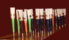 uilleann pipes reeds : chanter or practice or regulator reeds. Anches de uilleann pipes. Irish music.  Musique irlandaise.