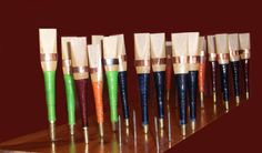 uilleann pipes reeds : chanter or practice or regulator reeds. Anches de uilleann pipes. Irish music.  Musique irlandaise.
