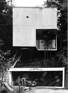 KSK luxury// Stelio's Karalis// The new Luxury concept: expensive cars, expensive stuff and small minimalist house// Blue Box House, Tokyo, Japan, 1971 (Mayumi Miyawaki) Houses Architecture, Japanese Architecture, Residential Architecture, Amazing Architecture, Contemporary Architecture, Interior Architecture, Tokyo Architecture, Installation Architecture, Pavilion Architecture