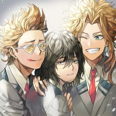 Boku no Hero Academia || Present Mic, Aizawa Shouta, All Might.
