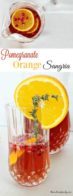 This Pomegranate Orange Sangria not only looks amazing, but it combines the perfect flavors of the season.  I know what I'm making for the holidays!