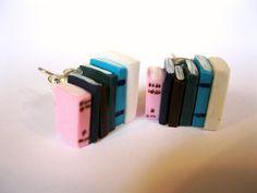 #SWAG: Pink and Blue Book Stud Earrings - Loving this Ladies Book Jewellery! £6.00