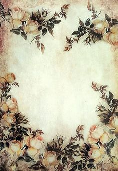 Vintage Brown Roses Rice Paper - for Decoupage - Sheet - Scrapbooking - A4