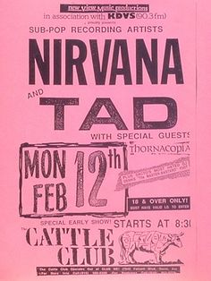 Nirvana & Tad at the Cattle Club