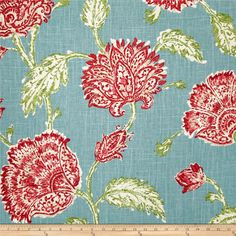 Duralee Home Agathe Floral Aqua Fabric Aqua Curtains, Floral Curtains, Flower Curtain, Aqua Fabric, Floral Pillows, Pillow Forms, Home Decor Fabric, Handmade Home Decor, Drapery Fabric