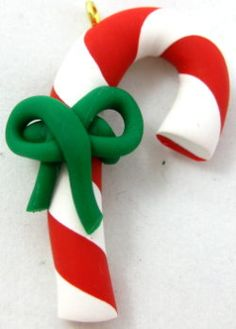 How to make Polymer Clay - Candy Canes - DIY Craft Project with instructions from Craftbits.com