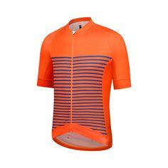 Railroad Stripe Jersey - Celosia Orange   Dazzling Blue 5dfc71160