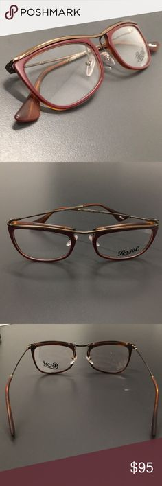 Persol 3083-V 1006 Womens/Mens Glasses Frames The frame is fully rx-able and can be fitted with prescription and/or tinted lenses at most optical stores. Please note that factory demo lenses have a logo stamped on them in ink. This frame provides comfortable fit and flatters a variety of face shapes.  Size: 51-19-145 Frame Color: burgundy / brown / havana Lens Height: 34 mm  These eyeglasses are made of metal and high quality, durable acetate plastic. Please keep in mind that original case…
