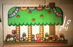Super Mario World Perler by Awi87.deviantart.com on @DeviantArt