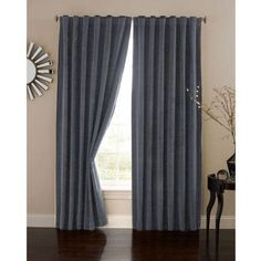 Absolute Zero Velvet Blackout Home Theater Curtain Panel, Blue