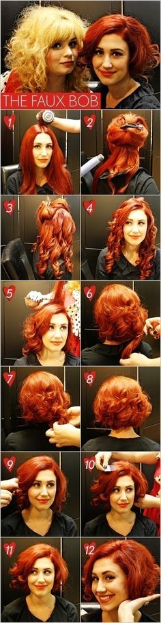 The Faux Bob. I want to try that.. Can't remember the time that I had short hair.
