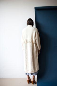 Ryan Roche Robe Sweater in Ivory | Oroboro Store