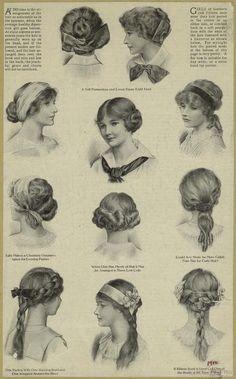 1910s hair styles - NYPL Digital Gallery inspiration