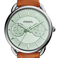 Tailor Multifunction Dark Brown Leather Watch