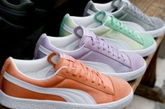 Pastel #PUMA sneakers are a must have! #colorblocking www.shop.puma.com