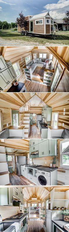 Modern Tiny House, Tiny House Living, Tiny House Plans, Tiny House On Wheels, Tiny House Design, Small Living, Estilo Interior, Interior Modern, Tiny House Nation