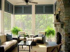 Porch shuttered Design Ideas,