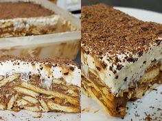 Greek Sweets, Cold Desserts, No Bake Cake, Sweet Recipes, Tiramisu, Food To Make, Good Food, Fun Food, Recipies