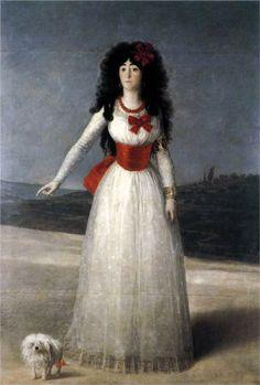 Francisco de Goya y Lucientes. Duchess of Alba, The White Duchess. 1795. Oil on canvas. 194x130cm. Portrait. Private Collection.