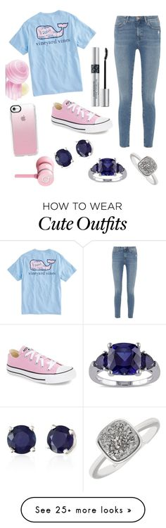 """Cute outfits for school"" by amiyafulton037 on Polyvore featuring Vineyard Vines, M.i.h Jeans, Converse, Effy Jewelry, Miadora, Casetify, Christian Dior, Beats by Dr. Dre and Eos"