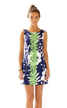 The Delia navy and white shift dress is so FUN. We know, a monkey print dress is always a good idea, but this one takes the cake - it's in our favorite shift style. What could be better?