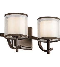 Kichler 45450MIZ Tallie 2 Light 13 inch Mission Bronze Vanity Light Wall Light #LightingNewYork