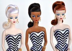 Vintage Barbie - Repos maybe, not really sure.  I don't think the original came out in african american or the platinum hair???