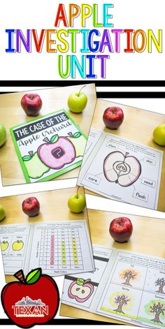 Apple investigations are such a fun way to introduce early science concepts to Preschool, Kindergarten, and First Grade students.  I love that this fun project allows students to experiment with an everyday item as they explore weight, circumference, and more.  Engage the 5 senses with this hands-on unit!