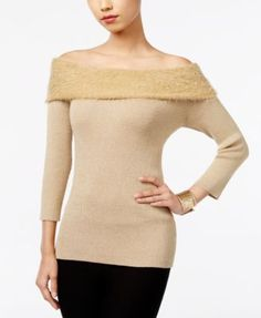 NY Collection Marilyn Off-The-Shoulder Sweater | macys.com